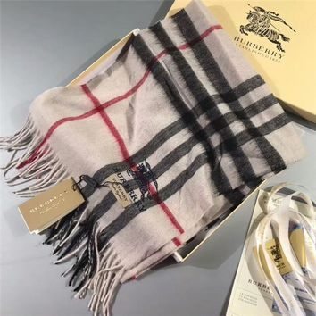 Luxury Burberry Keep Warm Scarf Embroidery Scarves Winter Wool Shawl - Multicolor 3