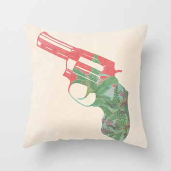 Miss scarlet, in the room, with a gun Throw Pillow by Budi Satria Kwan