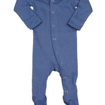 L'OVEDBABY Organic Slate Gloved Sleeve Overall
