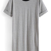Striped Long Grey T-shirt