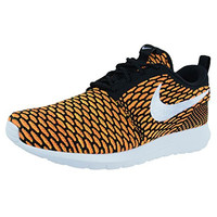 Roshe NM Flyknit Men Lifestyle Casual Sneakers New Black Total Orange