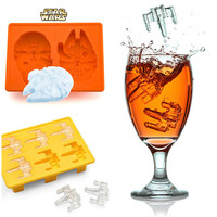 Home Easy Tools Kitchen Helper Hot Deal Stylish On Sale Cute Creative Silicone Ice Maker Cartoons Starwars Ice Freezer Hot Sale Mould [4919917636]