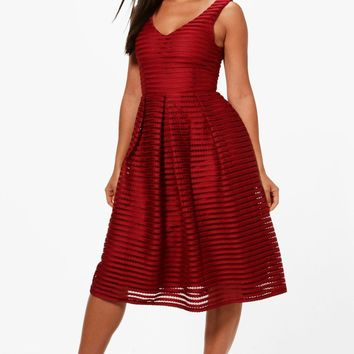 Jodie Panelled Skater Dress | Boohoo