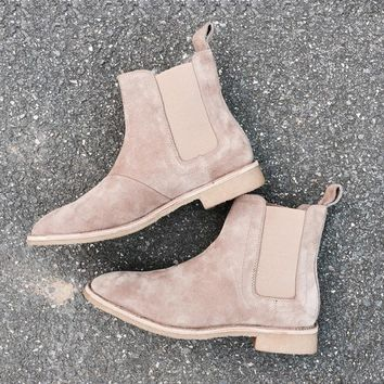 Fashion Online 2017 Acevedo Brand Designer Chelsea Boots Europe Style Slp Genuine Leather Ankle Mens Casual West Boots Men Shoes Trainers