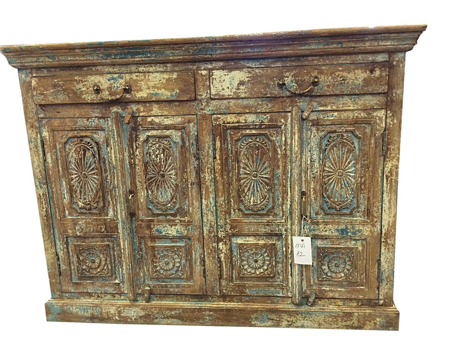 Antique indian sideboard chest dresser from amazon antique for Sideboard indien