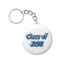 Class of 2018 3D Key Chains, Sea Blue Keychain