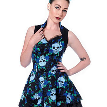 Eternal Rest Skulls & Roses Dress