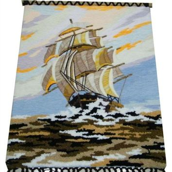 LMF9GW Handmade art tapestry tapestry wall mural hall classic decorative paintings sailing 1