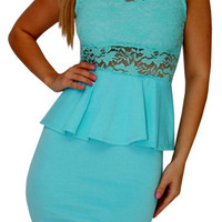Clear As Crystal (Aqua)-Great Glam is the web's best online shop for trendy club styles, fashionable party dresses and dress wear, super hot clubbing clothing, stylish going out shirts, partying clothes, super cute and sexy club fashions, halter and tube
