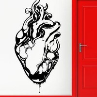 Wall Stickers Vinyl Decal Medical Heart Gothic Grunge Youth Cool Decor Unique Gift (z2297)