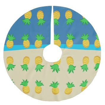 Kids Hawaiian Luau Party Brushed Polyester Tree Skirt