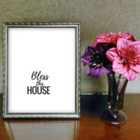 Bless This House Inspirational Quote Printable Wall Art
