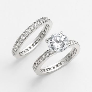 Women's Ariella Collection Stackable Rings (Set of 2)