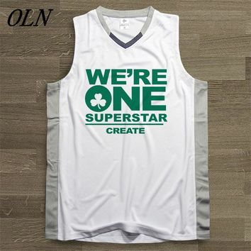 OLN Mens Basketball Jersey Top Uniforms 11 Kyrie Irving Printing Sports Sets Breathable Training Shirts White