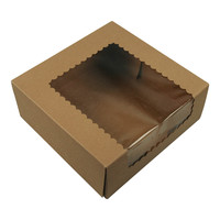 Brown Kraft Cake Boxes With Window 9x9x3.5 150/Bundle