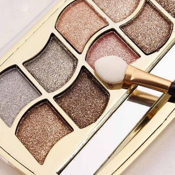 12 color Highlighter Makeup Bronzer For Face Highlighter Cosmetic Palette Shimmer makeup cosmetics diamond eye shadow eyeshadow