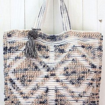 Hand-Loomed Oversized Carpet Weave Tote