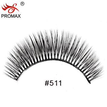 12 Pairs Handmade Fake Lashes Soft Natural Long Eye