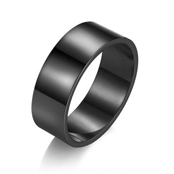 JEXXI Factory Price Simple Stainless Steel Men Rings For Wedding Engagement Jewelry Size 7-10 4 Colors Women Finger Ring