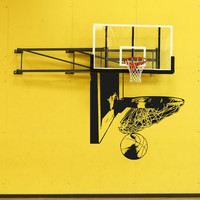 Vinyl Wall Decal Sticker Basketball Swish #5079