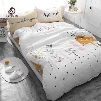 Tree Forest High Quality 100% Cotton Bedspread Duvet Cover Set Soft 4Pcs
