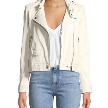 Iro Mazey Zip-Front Leather Moto Jacket
