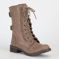 Soda Dome Womens Boots Taupe  In Sizes