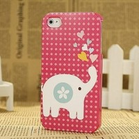 Lovely Pet Elephant Carton Hard Shell Case for iPhone 4/4s:Amazon:Cell Phones & Accessories