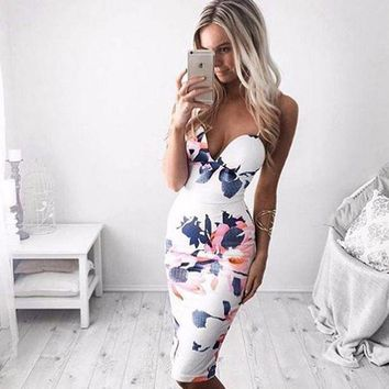Vanessa midi floral dress