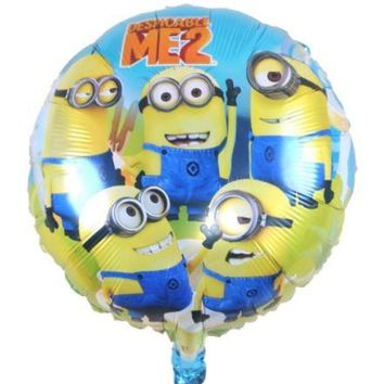 18inch minion Cartoon Balloon Float air balls baloons Wedding birthday party decoration Kids Inflatable Toys