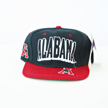 vintage 90s university of ALABAMA CRIMSON TIDE snapback hat