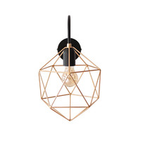 Geometric Wall Sconce Light Brass Wall Lamp Handmade Polyhedron Lighting Metal Industrial Sconce Gold Diamond Light Minimalist Home Decor