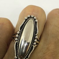 Vintage 1970's Native American 925 Sterling Silver Ring