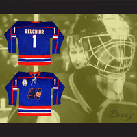 Marco Belchior 1 Halifax Highlanders Hockey Jersey Includes EMHL Patch Goon Movie