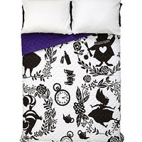 Disney Alice In Wonderland Silhouette Print Quilt