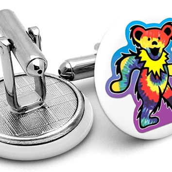 Grateful Dead Bear Cufflinks