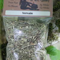 Vervain, dried vervain, love spells, stress relief, herbs for well being, prosperity ,protection, purification incense making approx 25g