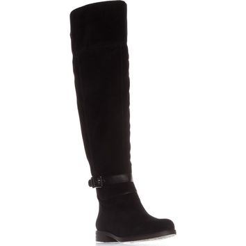 Franco Sarto Crimson Wide Calf Riding Boots, Black, 9.5 US / 39.5 EU