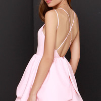 Keepsake Last Stand Backless Peach Dress