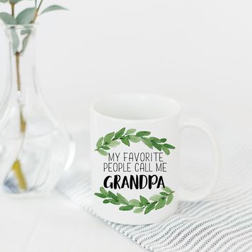 "PROMENADE FIELD ""MY FAVORITE PEOPLE CALL ME GRANDPA"" MUG"