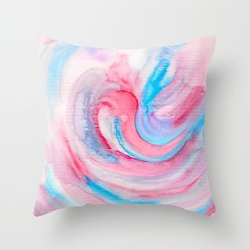 Improvisation 16 Throw Pillow by ViviGonzalezArt