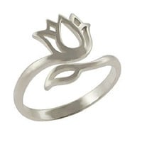 Padma Adjustable Ring-Sterling Silver