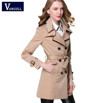 Fashion Designer Inspired Classic European Trench Coat