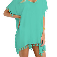 Stylish Chiffon Tassel Beachwear Bikini Swimsuit Cover up