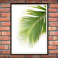 Tropical Leaf Print, Green Palm Art, Palm Art, Palm Leaves, Art Photo, Tropical Prints, Palm Leaf Prints, Tropical Decor, Green Decor *12*