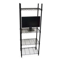 The TV Stand Shelf Supreme - Adjustable Shelving College Dorm Room Furniture