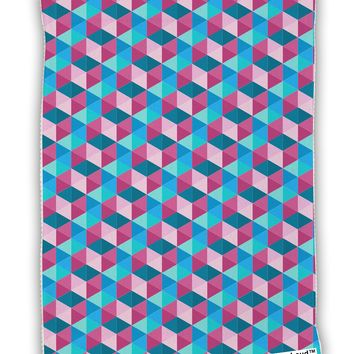 Crystalized Mosaic AOP Micro Terry Sport Towel 11 X 18 inches All Over Print