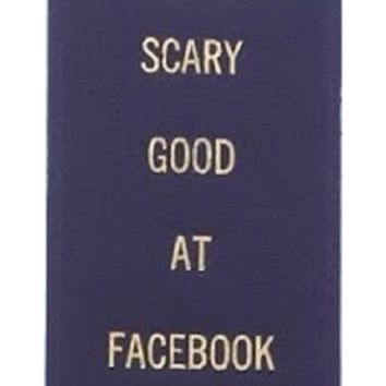 Scary Good at Facebook Creeping Award Ribbon on Gift Card
