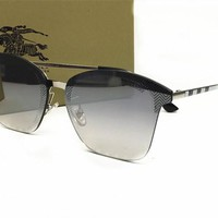 Burberry Cat Eye Aviator Sunglasses Women Vintage Fashion Metal Frame Mirror Sun Glasses [2974244552]