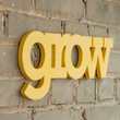grow handmade wood sign - wall decoration for vintage or modern nursery children greenhouse plant bedroom decor